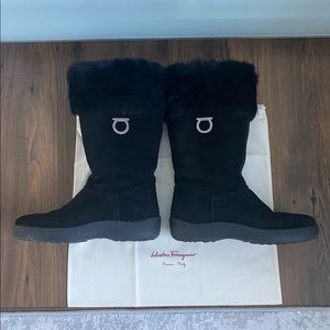 Authentic Salvatore Ferragamo Suede Boots, 40